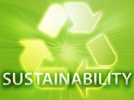 Recycling symbol, eco environment friendly sustainability illustration Stock Illustration - 3742590