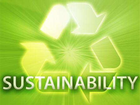 Recycling symbol, eco environment friendly sustainability illustration Stock Illustration - 3742590