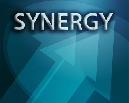 Synergy illustration, abstract management success concept clipart Stock Illustration - 3742549
