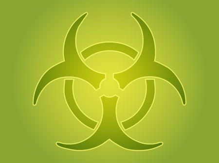 disastrous: Biohazard sign, warning alert for hazardous bio materials