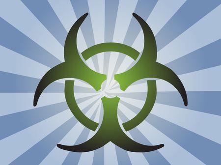 Biohazard sign, warning alert for hazardous bio materials Stock Photo - 3745865