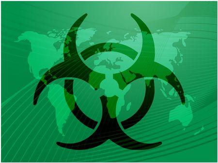 Biohazard sign, warning alert for hazardous bio materials Stock Photo - 3745879