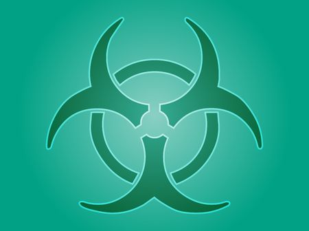 Biohazard sign, warning alert for hazardous bio materials Stock Photo - 3782454