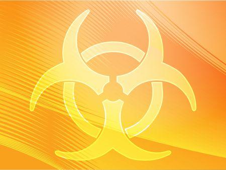 Biohazard sign, warning alert for hazardous bio materials Stock Photo - 3783525