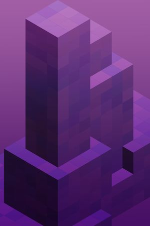 stacked: Abstract illustration wallpaper of geometric shape cubes