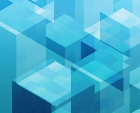 Abstract illustration wallpaper of geometric shape cubes Stock Illustration - 3782763