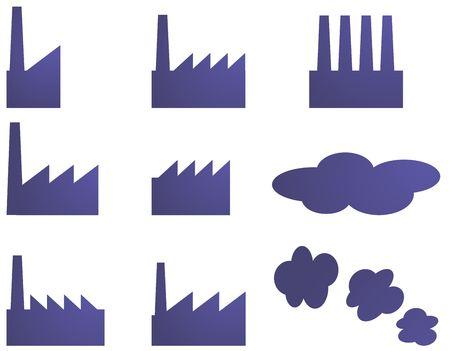 Icono de fábrica de la industria ilustración imágenes prediseñadas Foto de archivo - 3782457