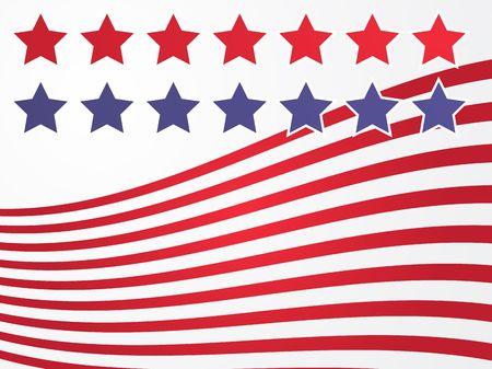 representation: Stars and stripes illustration USA flag abstract representation