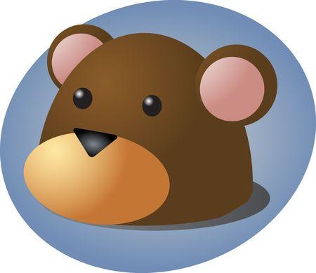 Cartoon head of a monkey, cute animal illustration Stock Illustration - 3802143