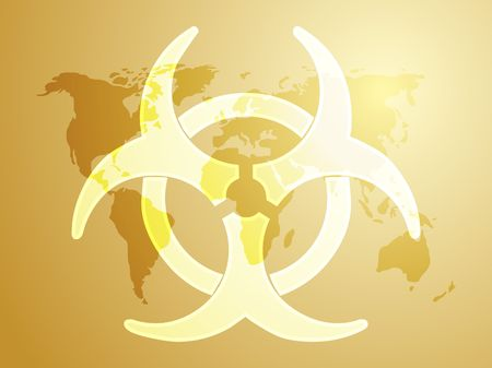 Biohazard sign, warning alert for hazardous bio materials Stock Photo - 3802174