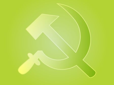 hammer and sickle: Soviet USSR hammer and sickle political symbol Stock Photo