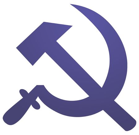sickle: Soviet USSR hammer and sickle political symbol Stock Photo