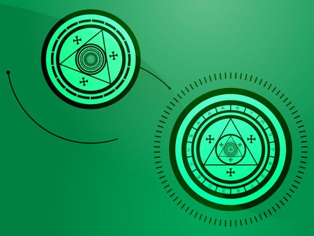 wierd: Wierd arcane symbols that look strange and occult