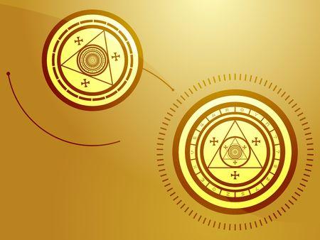 Wierd arcane symbols that look strange and occult Stock Photo - 3857270