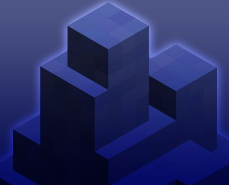 organized: Abstract illustration wallpaper of geometric shape cubes