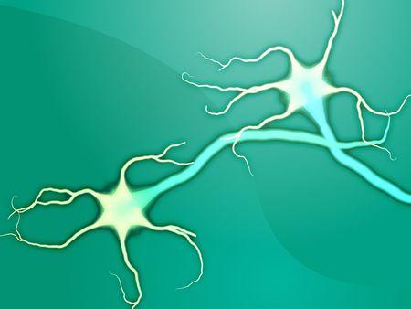 Illustration of neuron nerve cells abstract graphic render illustration
