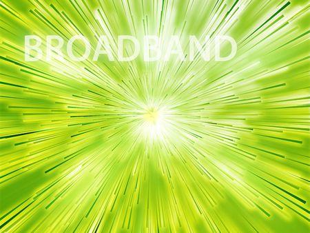 broadband: Broadband illustration, showing information transfer and flow Stock Photo