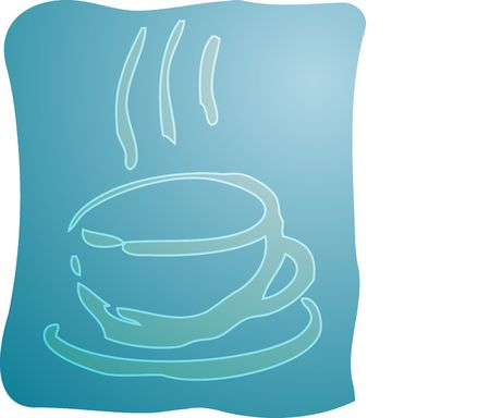 Illustration of a cup of coffe, rough hand-drawn sketch Stock Illustration - 3882792