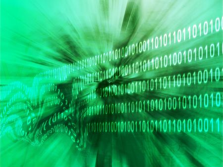 disrupt: Illustration of corrupt data, damaged binary information