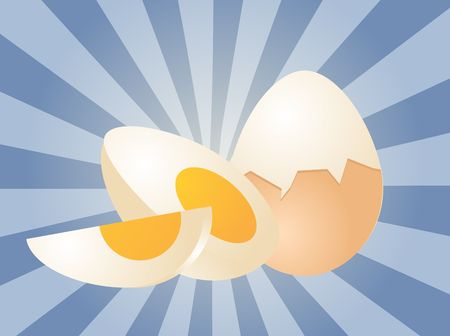 boiled: Egg illustration clipart boiled whole and sliced