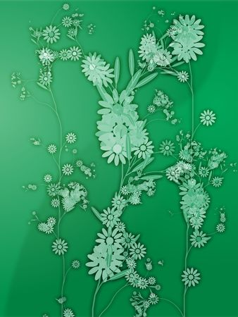 flourishing: Floral nature themed design illustration with leaves and blossoms