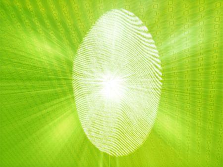 biometric: Digital fingerprint biometric security indentifaction, graphic illustration
