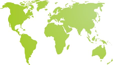 world map outline: Map of the world illustration, simple outline gradient colors