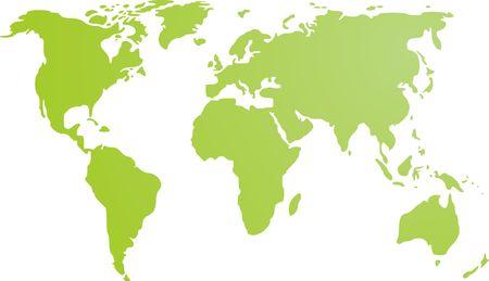 mapa politico: Mapa del mundo de la ilustraci�n, simple esbozo gradiente de colores Foto de archivo