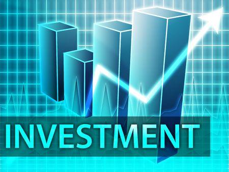 earnings: Investment finances illustration of bar chart diagram Stock Photo