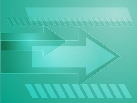 thrusting: Forward moving arrows pointing right, design illustration Illustration