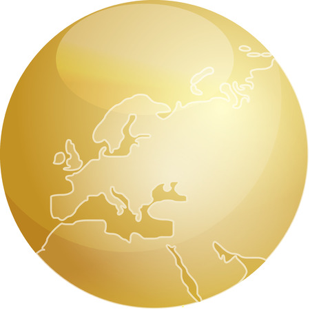 Map of Europe on a glossy sphere Stock Vector - 3894197