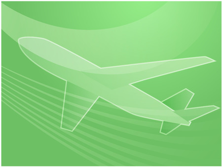 arcs: Illustration of an airplane abstract design showing air travel