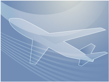 transporting: Illustration of an airplane abstract design showing air travel