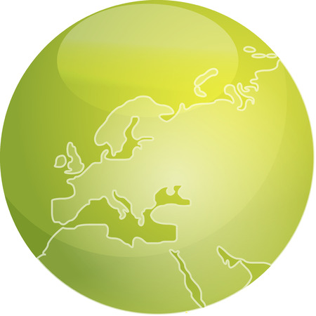Map of Europe on a glossy sphere Stock Vector - 3894288