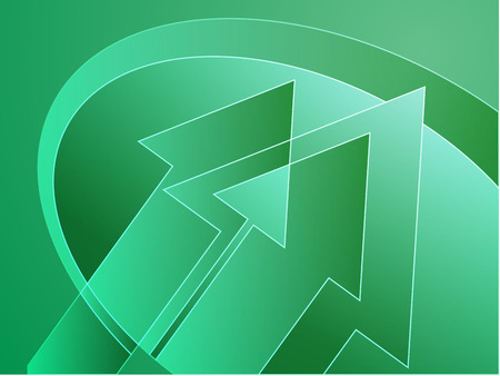 arcs: Upwards forward moving arrows abstract design illustration
