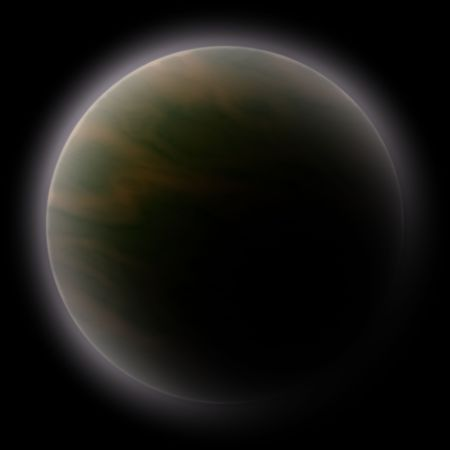 scienceficton: Science fiction planet illustration, computer rendered graphic