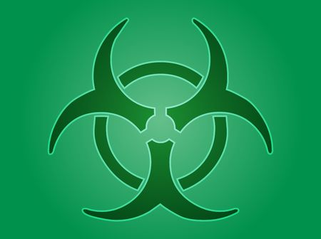 disastrous: Biohazard sign, warning alert for hazardous bio materials