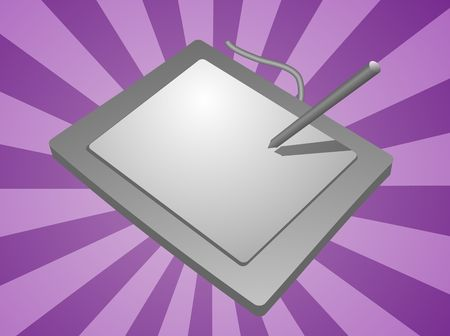 computer peripheral: Card reader computer peripheral hardware device illustration Stock Photo