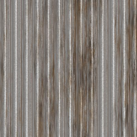 Corrugated metal surface with corrosion seamless texture Stock Photo - 3902512