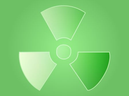 Illustration of radiation hazard warning alert symbol Stock Illustration - 3902246