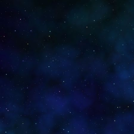 outerspace: Space nebula starfield abstract illustration of outerspace starry sky Stock Photo