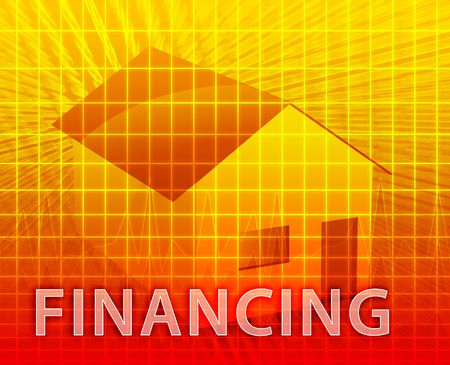 House financing digital collage illustration, subprime loan Stock Illustration - 3902509