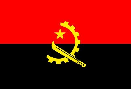 angola: Flag of Angola , national country symbol illustration