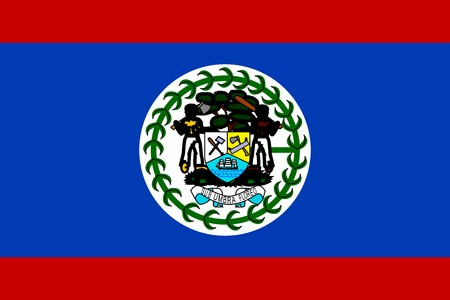 Flag of Belize, national country symbol illustration illustration