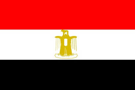 egypt: Flag of Egypt, national country symbol illustration Stock Photo