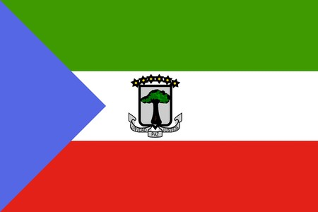 equatorial: Flag of Equatorial Guinea , national country symbol illustration