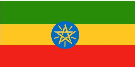 Flag of Ethiopia, national country symbol illustration illustration