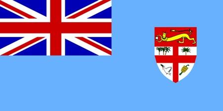 fiji: Flag of Fiji, national country symbol illustration