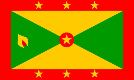 Flag of Grenada, national country symbol illustration illustration