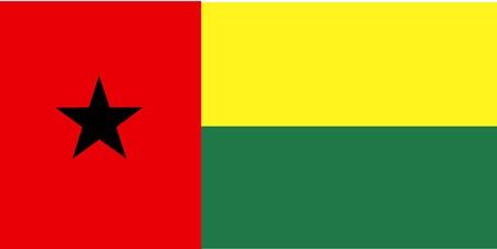 bissau: Flag of Guinea Bissau, national country symbol illustration Stock Photo